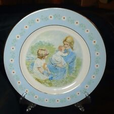 "Vintage Avon ""Tenderness"" Commemorative Plate January 1974 Pontesa Ironstone"