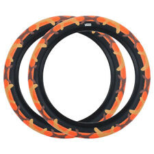 "Pair of Cult Vans BMX Tyres - Orange Camo with Black Sidewall - 20"" x 2.40"""