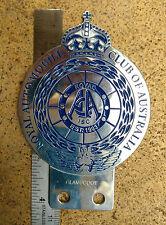 ROYAL AUTOMOBILE Club Car Badge AUSTRALIA SPORT CLUB VINTAGE REPRO AA