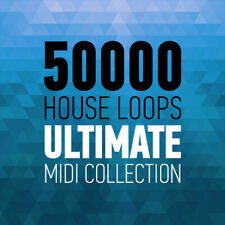 50,000 House Music Loops / Ultimate Midi Collection / EDM Deep Techno Trance