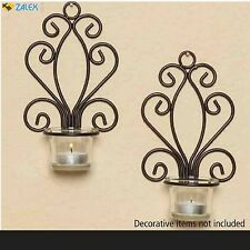 2 Pair Candle Holder Wall Hanging Sconce Furnishing Articles Tea Light Candle