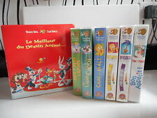 K7 VHS CASSETTE VIDEO - COFFRET 6 K7 - LE MEILLEUR DU DESSIN ANIME ...