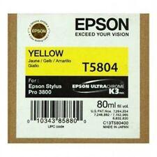 ORIGINALE Epson t5804 INCHIOSTRO YELLOW PER STYLUS PRO 3800 3880 c13t580400 2016 OVP