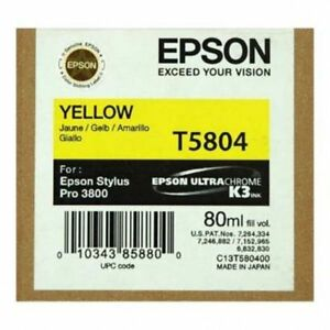Original Epson T5804 Tinte yellow für Stylus Pro 3800 3880  C13T580400  2018 OVP