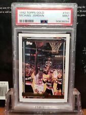 1992 topps gold MICHAEL JORDAN PSA 9 # 141 Rare Chicago Bulls GOAT BIN steal