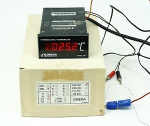 Omega 680 Thermocouple Thermometer Meter w/ Options A, S1