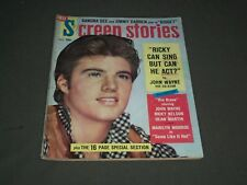 1959 MAY SCREEN STORIES MAGAZINE - RICKY NELSON - SP 2764