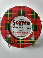 "Vintage Scotch Tape Tin Cellophane Transparent Tape 2592"" To Reorder Specify"