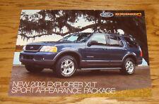 Original 2002 Ford Explorer XLT Sport Appearance Package Sales Sheet Brochure