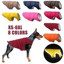 XS-6XL Puppy Pet Large Dog Clothes Fleece Warm Reflective Jacket Coat Waistcoat