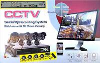 Kit Videosorveglianza DVR 4CH +4 Videocamere.Sensore movimento,IR infrarossi LED