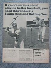 VINTAGE 1970 JOE TORRE CLEON JONES ADIRONDACK BASEBALL BAT ADVERTISEMENT