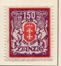 Danzig 1923 Early Issue Fine Mint Hinged 150M. 010257