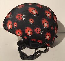 Ski & Sport Helmet cover by Shellskin. Red/Black Lady Bug print Spandex.1 Size