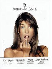 Publicité Advertising 028  2011   Alexander Fuchs  joaillier diamantaire
