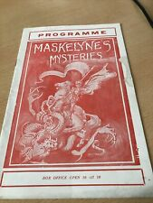 More details for magic theatre programme maskelyne's mysteries 1930s july 30th