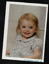 Vintage Photograph Adorable Little Blonde Girl Sitting in Chair