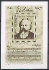 DDR postfris 1983 MNH block 69 - Johannes Brahms