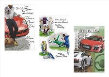 Son In Law Birthday Card by SIMON ELVIN Traditional Football Car Mens Male Sport