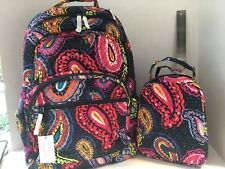 Vera Bradley Essential Large Backpack Twilight Paisley Quilted Cotton 23672