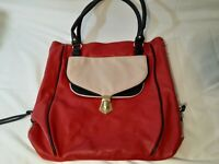 Steve Madden Purse wine w/beige gold Accents ~ Side Zippers For Expansion ~