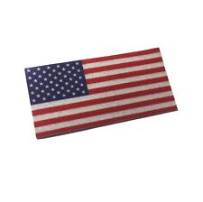 """The Reflective 2x1"""" American Flag decal / sticker - US Full color"""