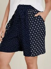 Evans ladies shorts plus size 32 mix and match print navy pockets