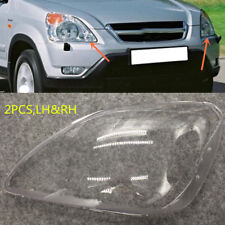 2PCS RH&LH Headlight PC Cover Replacement with glue for Honda CRV 2005-2006