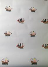 Laura Ashley designer kids bedroom PIRATE wallpaper home decoration wall paper