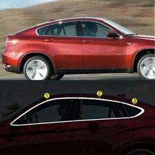 BMW X6 E-71 E72  2007-2014 Chrome Windows Upper Frame Trim 4 Door 6Pcs S.Steel