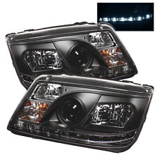 Volkswagen 99-05 Jetta Black DRL LED Projector Headlights Lamp GL GLS GLX TDI