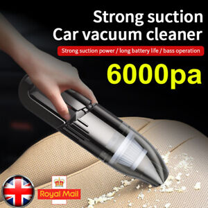 6000PA Cordless Car Vacuum Cleaner Handheld Home Rechargeable Wet Dry Portable