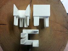 3  Paar Rolladen Einlauftrichter aus PVC Rechts und Links verwendbar 37x40mm