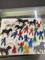 Marx Fort Apache Alamo Pioneers Soldiers Indians Vintage Playset Figures Lot C
