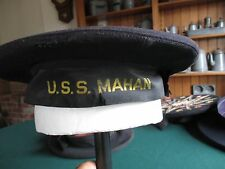 Pre WWII Original US Navy  USS Mahan Tally Donald Duck Flat Hat  Pearl Harbor