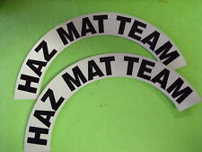 HAZ MAT TEAM FOR FIRE HELMET OR HARDHATS CRESCENTS  PAIR