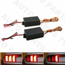 2x Sequential 3-Step Flow Flash Module Box for Car Front Tail Turn Signal Light