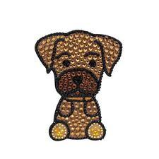 Boxer Dog Rhinestone Glitter Jewel Phone Ipod Iphone Sticker Decal
