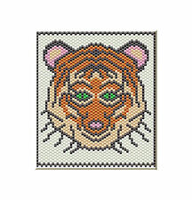 Bengal Tiger Pony Bead Banner Pdf Pattern Only