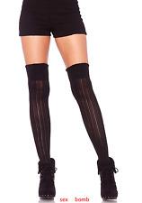SEXY calze PARIGINE Nere Maglia Costine intimo Lingerie Fashion GLAMOUR !