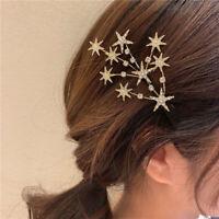Shiny Star Rhinestone Hairpins Hair Clip Sweet Headwear Hair Grip For Women