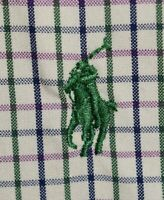 Men's Polo Ralph Lauren Plaid Long Sleeve Button Down Dress Shirt Size Large