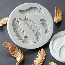 Beauty Feather Shape Silicone Cake Decoration Tool Sugarpaste Craft Mold Mould