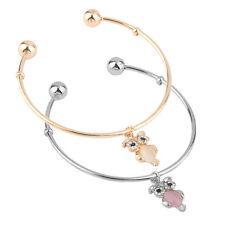 New Style Fashion Women Owl Rhinestone Cuff Bracelet Bangle Jewelry Gift LN