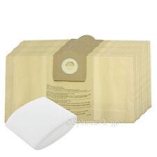 15 X Sacchetti per aspirapolvere & Schiuma Filtro accoppiamenti GOBLIN AQUAVAC HOOVER DUST BAG doppio strato