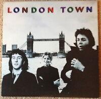Wings (Paul McCartney) London Town original 1978 vinyl LP with poster