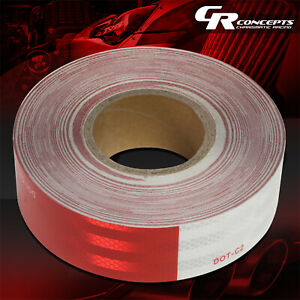 1 X 150' DOT-C2 ROLL OF SAFETY REFLECTIVE CONSPICUITY RED WHITE TAPE ASSEMBLY