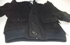 Starting Out Boy's Varsity-style Coat and Hat 3M Black NWT