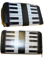 Girls Ladies Purse Wallet Novelty Fashion Gift Piano Print