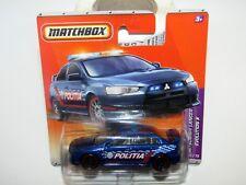 Matchbox Superfast 2010 No 57 Mitsubishi Lancer Evolution X Police Car BLUE MIB